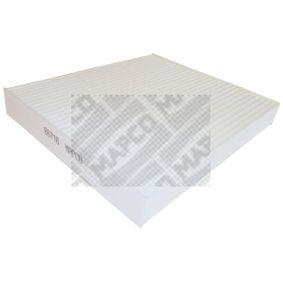 Filter, Innenraumluft Länge: 241mm, Breite: 240,5mm, Höhe: 32mm mit OEM-Nummer 9 552 8291