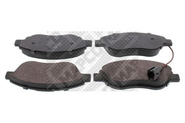 MAPCO  6572 Bremsbelagsatz, Scheibenbremse Breite: 150,8mm, Höhe: 57,4mm, Dicke/Stärke: 18,4mm
