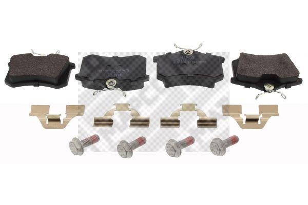 MAPCO  6579 Bremsbelagsatz, Scheibenbremse Breite: 87,6mm, Höhe: 52,9mm, Dicke/Stärke: 17mm
