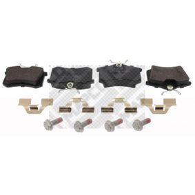 Bremsbelagsatz, Scheibenbremse Breite: 87,6mm, Höhe: 52,9mm, Dicke/Stärke: 17mm mit OEM-Nummer 1J0.698.451H