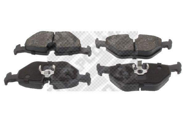 MAPCO  6581 Bremsbelagsatz, Scheibenbremse Breite: 123mm, Höhe: 44,9mm, Dicke/Stärke: 17mm