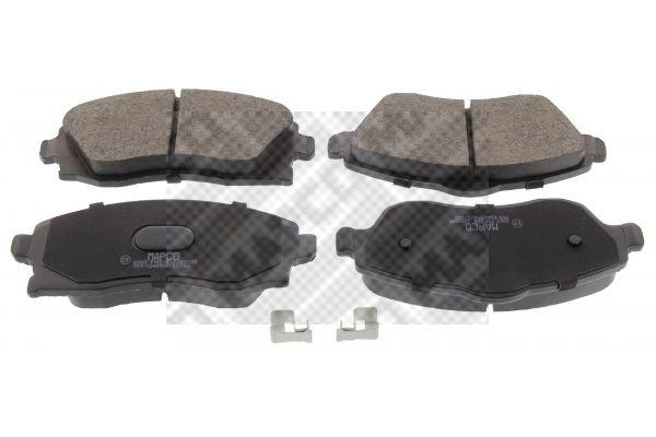 MAPCO  6583 Bremsbelagsatz, Scheibenbremse Breite: 131,6mm, Höhe 1: 52,8mm, Höhe 2: 55,6mm, Dicke/Stärke: 16,8mm