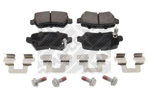 MAPCO  6605 Bremsbelagsatz, Scheibenbremse Breite: 95,5mm, Höhe: 42,8mm, Dicke/Stärke: 15,3mm