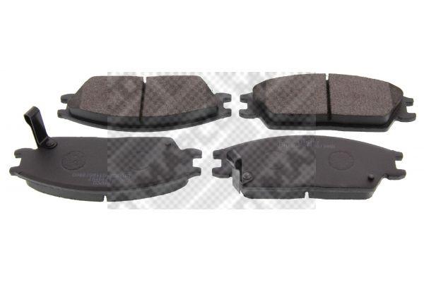 MAPCO  6654 Bremsbelagsatz, Scheibenbremse Breite: 127,2mm, Höhe: 49mm, Dicke/Stärke: 15mm