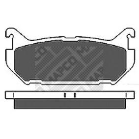 Bremsbelagsatz, Scheibenbremse Breite: 100mm, Höhe: 44mm, Dicke/Stärke: 13,5mm mit OEM-Nummer G5Y6-2648Z