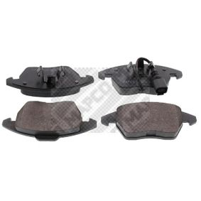 Kit de plaquettes de frein, frein à disque Largeur: 155mm, Hauteur: 66mm, Épaisseur: 21mm avec OEM numéro 3C0698151D