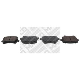 MAPCO Bremsbelagsatz, Scheibenbremse 6696 für AUDI A4 Cabriolet (8H7, B6, 8HE, B7) 3.2 FSI ab Baujahr 01.2006, 255 PS