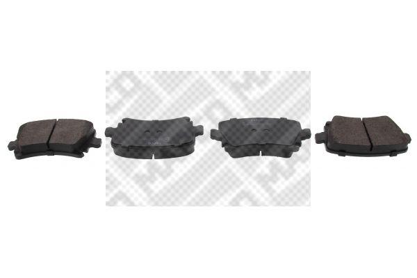 MAPCO  6696 Bremsbelagsatz, Scheibenbremse Breite: 105,5mm, Höhe: 55,9mm, Dicke/Stärke: 17,1mm