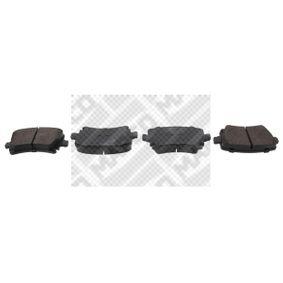 MAPCO  6696 Brake Pad Set, disc brake Width: 105,5mm, Height: 55,9mm, Thickness: 17,1mm
