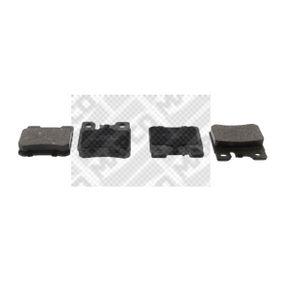 Bremsbelagsatz, Scheibenbremse Breite: 61,7mm, Höhe: 58,5mm, Dicke/Stärke: 15mm mit OEM-Nummer A0014209520