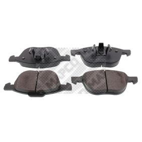 Bremsbelagsatz, Scheibenbremse Breite 2: 156mm, Breite: 155,1mm, Höhe 2: 67mm, Höhe: 62,4mm, Dicke/Stärke: 17,5mm mit OEM-Nummer AV61-2K021-BA