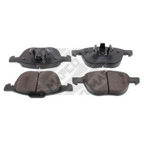 MAPCO  6709 Bremsbelagsatz, Scheibenbremse Breite 2: 156,3mm, Breite: 155,1mm, Höhe 2: 67mm, Höhe: 62,4mm, Dicke/Stärke: 17,5mm