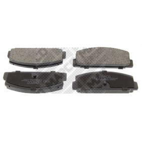 MAPCO  6712 Bremsbelagsatz, Scheibenbremse Breite: 107,7mm, Höhe: 39,4mm, Dicke/Stärke: 14mm
