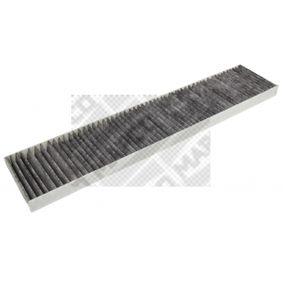 Filter, Innenraumluft Länge: 535,5mm, Breite: 109,5mm, Höhe: 25mm mit OEM-Nummer 7M0-819-638A