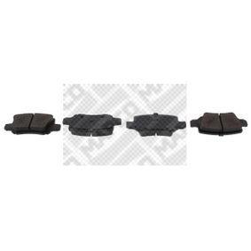 MAPCO  6744 Bremsbelagsatz, Scheibenbremse Höhe: 41,5mm, Dicke/Stärke: 14,3mm