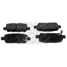 MAPCO  6754 Bremsbelagsatz, Scheibenbremse Breite: 106mm, Höhe: 38mm, Dicke/Stärke: 14mm