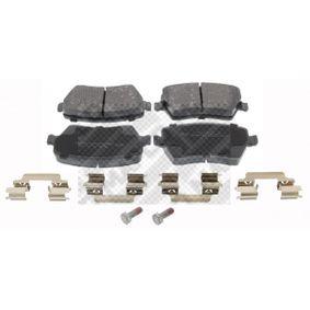 MAPCO  6758 Bremsbelagsatz, Scheibenbremse Breite: 116mm, Höhe: 52mm, Dicke/Stärke: 17mm