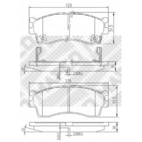 Bremsbelagsatz, Scheibenbremse Art. Nr. 6807 120,00€