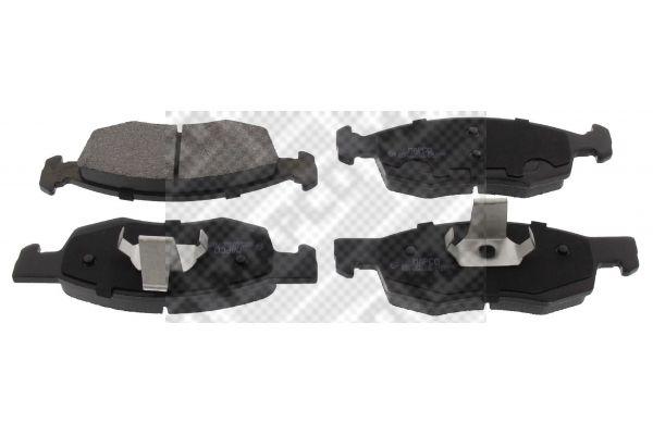MAPCO  6827 Bremsbelagsatz, Scheibenbremse Breite: 150,3mm, Höhe: 52,5mm, Dicke/Stärke: 17,5mm