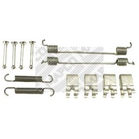 Accessory Kit, brake shoes 9112 PUNTO (188) 1.2 16V 80 MY 2000