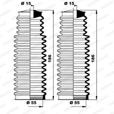 Fuelle dirección MOOG K150158 evaluación