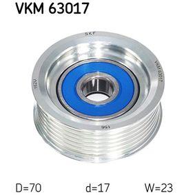 Szíjtárcsa / vezetőgörgő, hosszbordás szíj Ø: 70mm VKM 63017