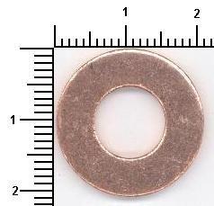ELRING  108.502 Anillo de junta, tapón roscado de vaciado de aceite Ø: 21mm, Espesor: 2,1mm, Diám. int.: 10mm