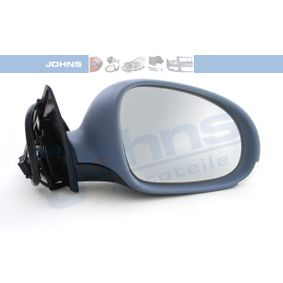JOHNS Side view mirror Right, Convex, for electric mirror adjustment, Heatable, without memory, Paintable