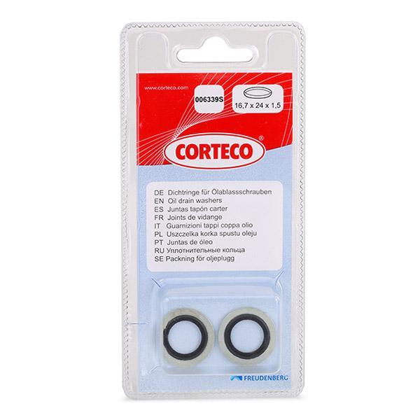 Ölablaßschraube Dichtung 006339S CORTECO 84906339 in Original Qualität