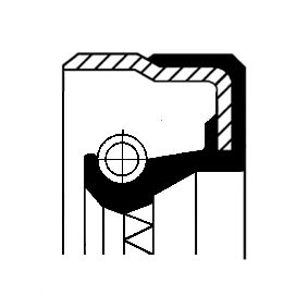 Tesnici krouzek hridele, automaticka prevodovka 01035820B Octa6a 2 Combi (1Z5) 1.6 TDI rok 2012