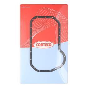 CORTECO Dichtung, Ölwanne 026316P für AUDI 100 (44, 44Q, C3) 1.8 ab Baujahr 02.1986, 88 PS