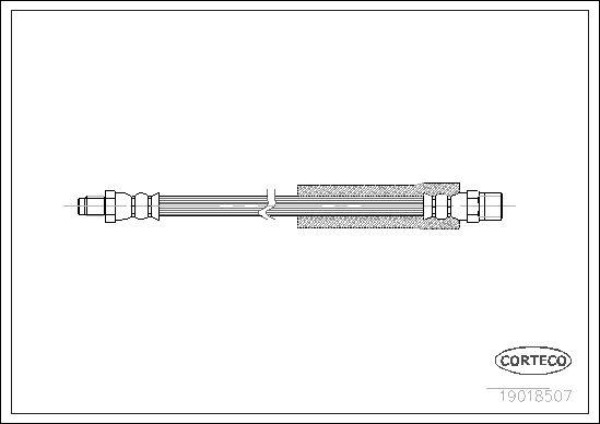 CORTECO  19018507 Bremsschlauch Länge: 303mm
