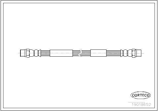 CORTECO  19018652 Bremsschlauch Länge: 442mm