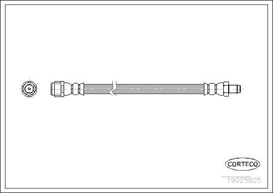 CORTECO  19025825 Bremsschlauch Länge: 280mm
