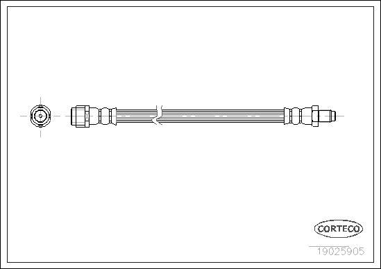 CORTECO  19025905 Bremsschlauch Länge: 385mm
