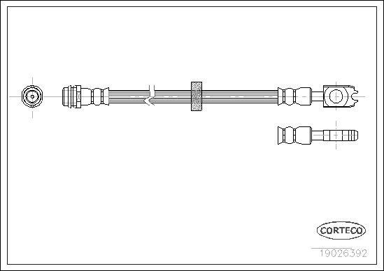 CORTECO  19026392 Bremsschlauch Länge: 468mm