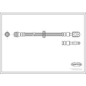 Bremsschlauch Länge: 468mm mit OEM-Nummer 1J0 611 701L