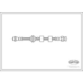 Bremsschlauch Länge: 455mm mit OEM-Nummer 1 304 007