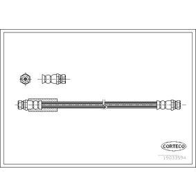 CORTECO Bremsschlauch 19033594 für AUDI A4 Cabriolet (8H7, B6, 8HE, B7) 3.2 FSI ab Baujahr 01.2006, 255 PS