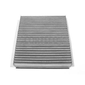 CORTECO  21651294 Filter, Innenraumluft Länge: 225mm, Breite: 204mm, Höhe: 40mm
