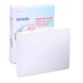 Filter, interior air Length: 279mm, Width: 207mm, Height: 25mm with OEM Number 1 H0 819 644