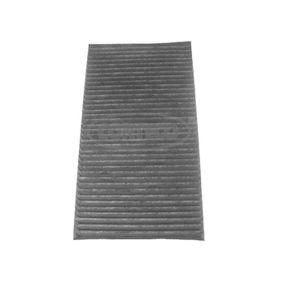 Filter, Innenraumluft Länge: 290mm, Breite: 160mm, Höhe: 30mm mit OEM-Nummer 60 653 641
