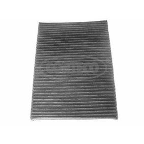 Filter, Innenraumluft Länge: 283mm, Breite: 206mm, Höhe: 25mm mit OEM-Nummer 1HO091800