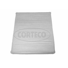 Filter, Innenraumluft Länge: 258mm, Breite: 231mm, Höhe: 30mm mit OEM-Nummer 9055949