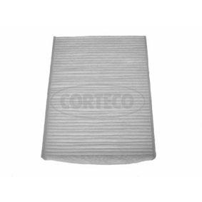 Filter, Innenraumluft Länge: 216mm, Breite: 163mm, Höhe: 25mm mit OEM-Nummer 77362394