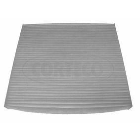 Filter, Innenraumluft Länge: 200mm, Breite: 220mm, Höhe: 20mm mit OEM-Nummer 88568 02030