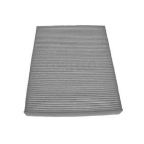 CORTECO Filter, Innenraumluft 21653020 für AUDI Q7 (4L) 3.0 TDI ab Baujahr 11.2007, 240 PS