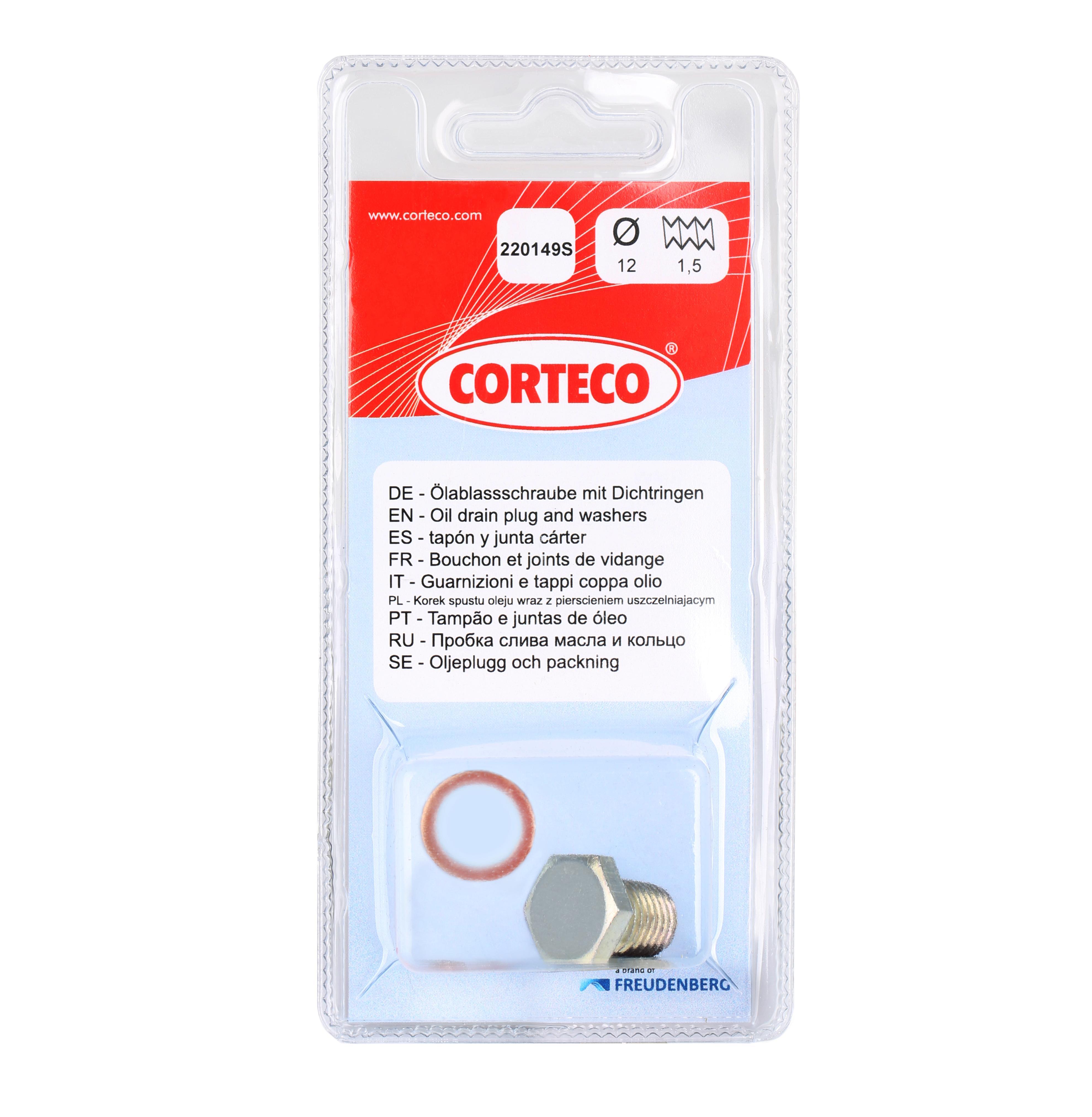 Ölablaßschraube 220149S CORTECO 84920149 in Original Qualität
