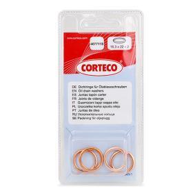 Anello di tenuta, vite di scarico olio Ø: 22mm, Spessore: 2mm, Diametro interno: 16,3mm con OEM Numero 016430