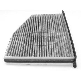 Filter, Innenraumluft Länge: 269mm, Breite: 207mm, Höhe: 34mm mit OEM-Nummer 1K2819653B